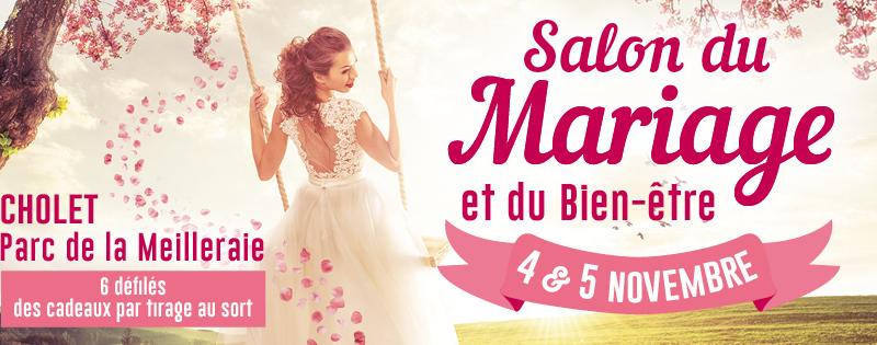 Salon du mariage à Cholet, les 4 et 5 novembre 2017