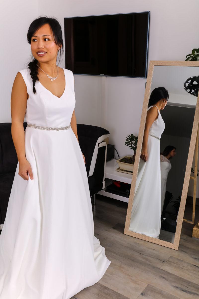 Robe de mariée à domicile - Darlila - Dos nu - Créateur