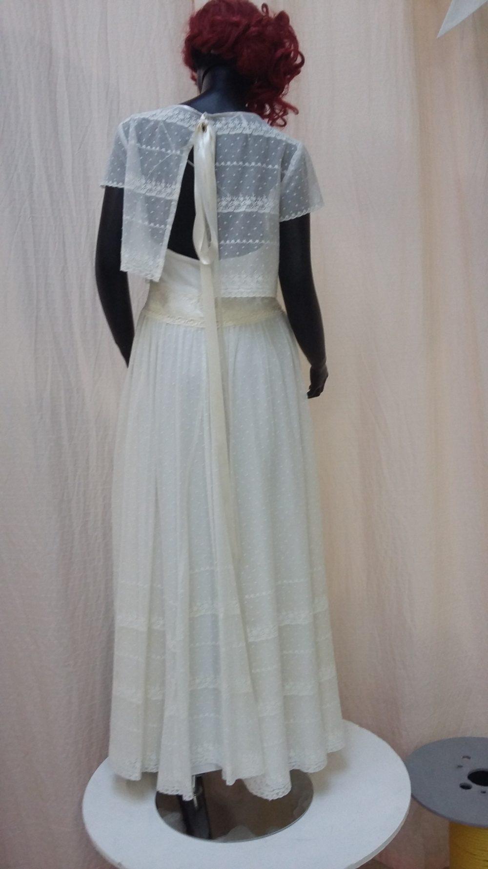 Robe de mariée à domicile - CAPUCINE - Robe bohème - boutique de mariage Cholet - boutique de mariée chemillé - boutique de robes le pin en mauges - boutique mariage bressuire
