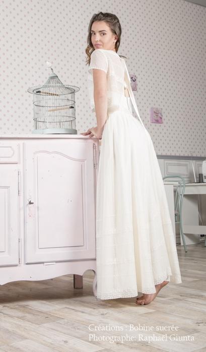 Robe de mariée à domicile - CAPUCINE - robe bohème - Cholet - Boutique de mariage Chemillé - Boutique de mariage Cholet - Boutique de mariage Bressuire - robe de créateur