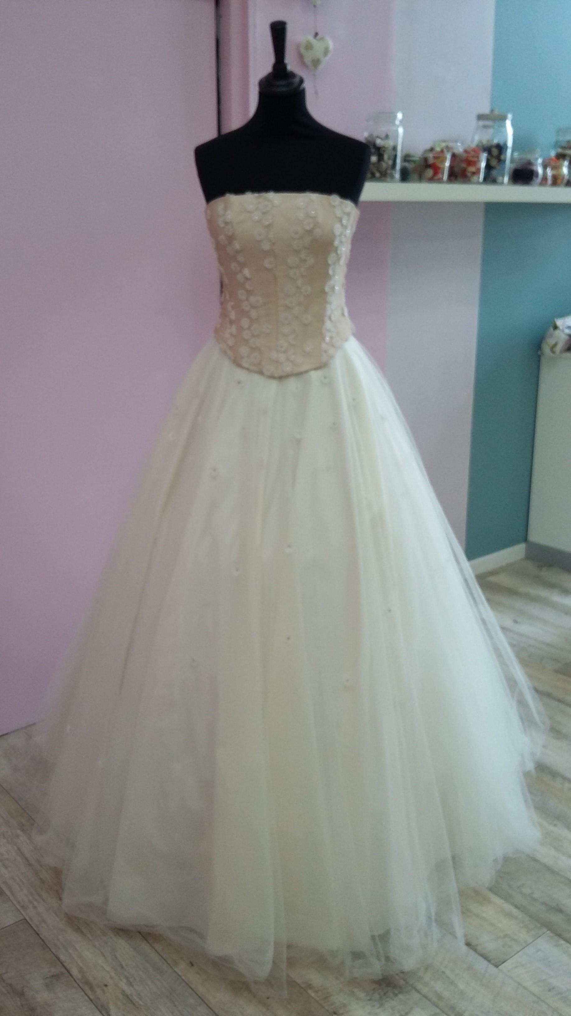 Robe de mariée à domicile - CATHERINE - robe princesse - Cholet - robe de mariage Rose - Boutique Mariage Cholet, chemillé, bressuire, nantes
