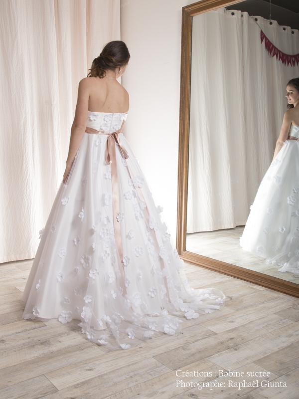 Robe de mariée à domicile - GUIMAUVE - Robe princesse - Cholet - Boutique mariage créatrice