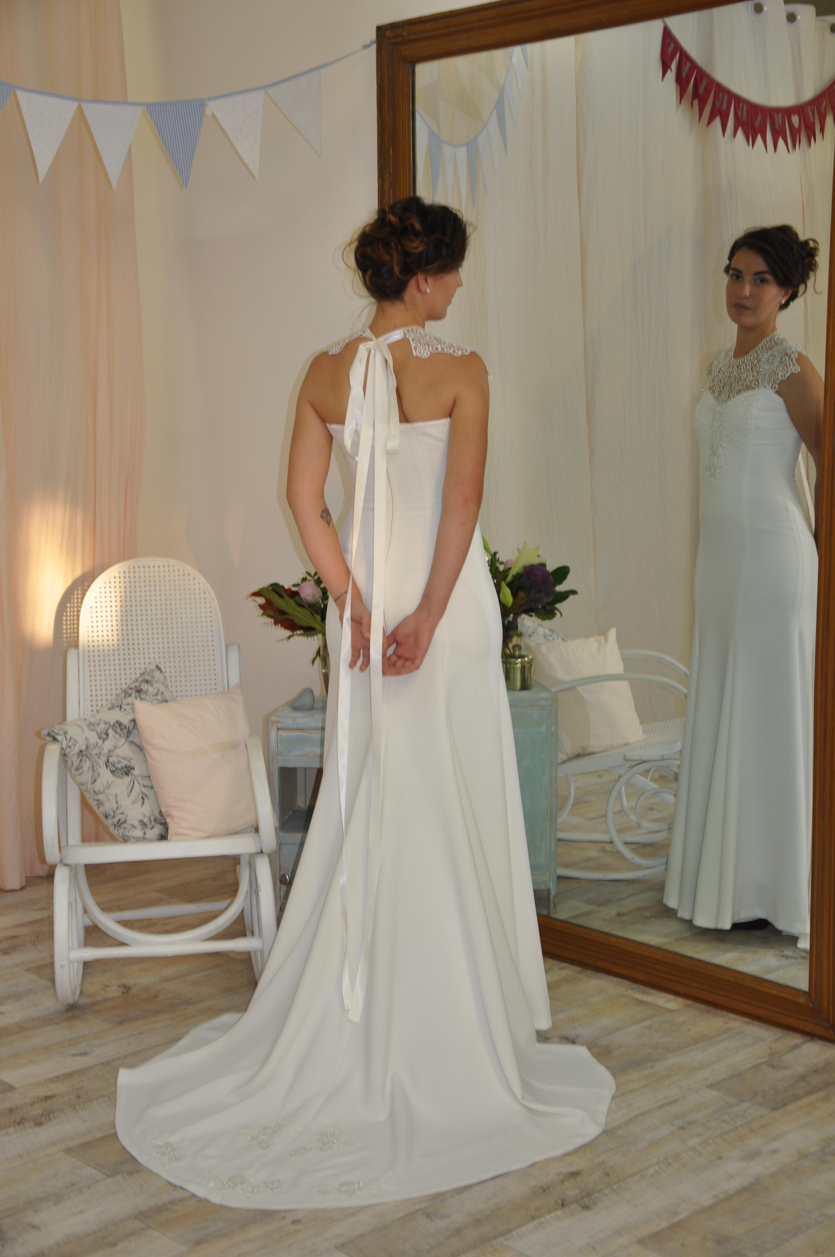 Robe de mariée à domicile - MADELEINE - Robe sirène - Cholet - boutique de mariage - créateur
