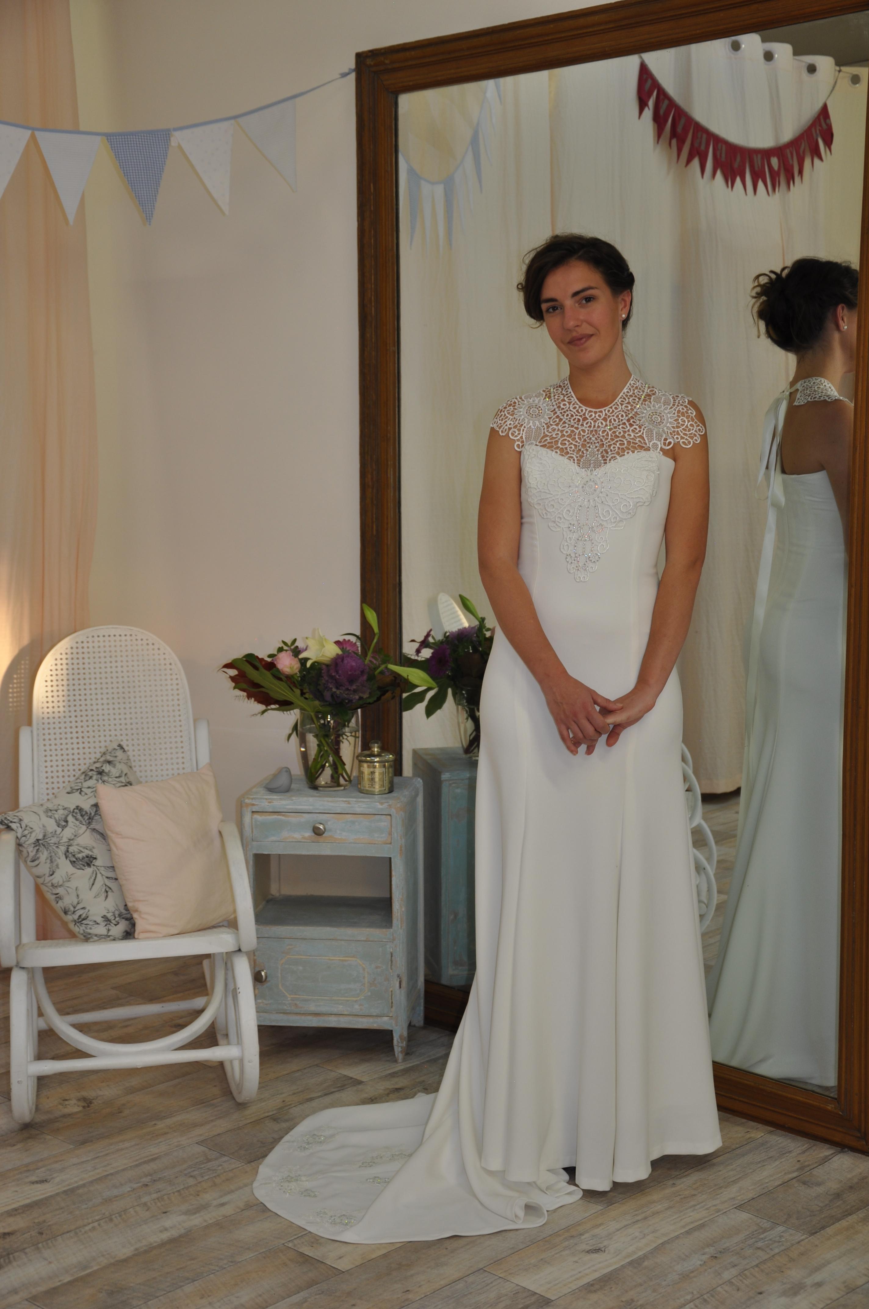 Robe de mariée à domicile - MADELEINE - robe sirène - Cholet - Boutique de mariage Cholet, location, vente, robe de mariée pas cher