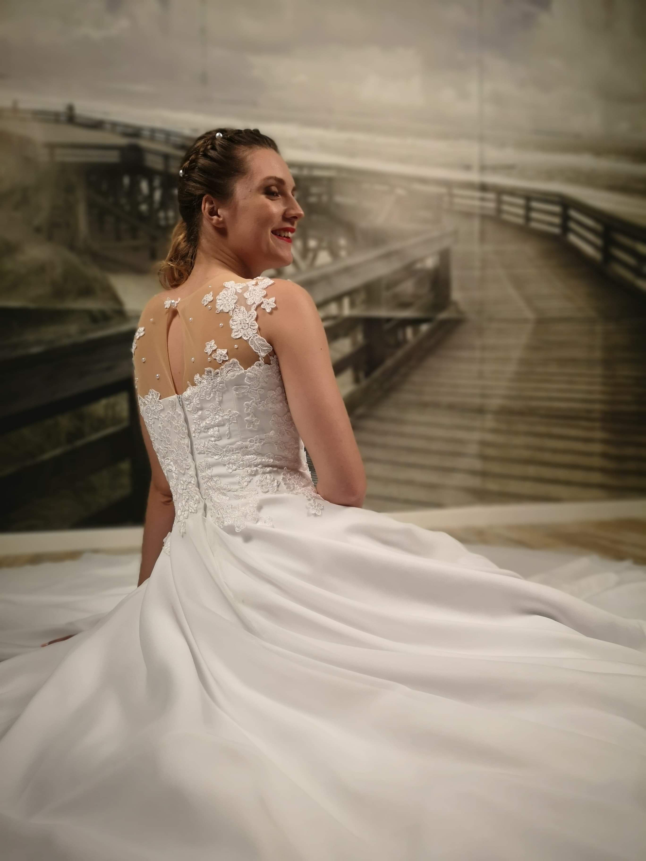 Robe de mariée à domicile -SOPHIA - Robe princesse - Cholet - Boutique de mariage 49 - vente à domicile 49, location robe de mariée 49