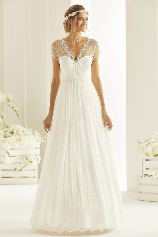 Robe de mariée Cosma Bianco Evento - Robe de mariée fluide, bohème - Cholet - Boutique de mariage 49, robe de mariée pas cher, créatrice 49, robe de mariée princesse