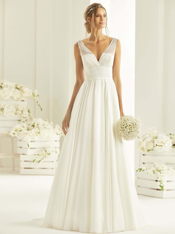 Robe de mariée Rebeca Bianco Evento - Robe de mariée  bohème - Cholet - Boutique de mariage 49, robe de mariée pas cher, créatrice Cholet